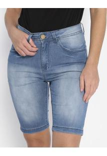 Bermuda Jeans Estonada - Azul Clarohandara