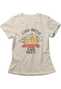 Camiseta Feminina Two Beer - Feminino-Mescla