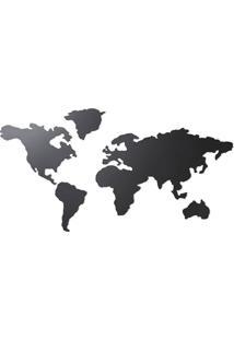 Quadro Mapa Mundi Mappit Titanium