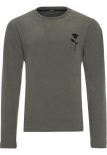 Camiseta Masculina Polartec Rose Sk8 Midi - Verde