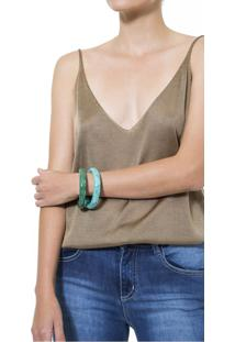 Bracelete Duplo Bicolor