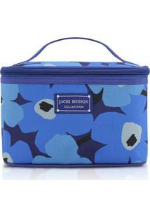 Necessaire Frasqueira Jacki Design Poliéster - Feminino-Azul