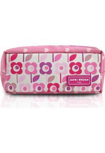 Estojo Infantil Flor Jacki Design Sapeka Rosa