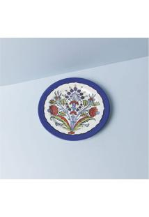 Prato De Sobremesa Ankara Cor: Azul - Tamanho: Único