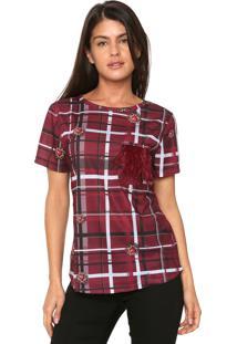 Camiseta Charry Bolso Pluma Roxa