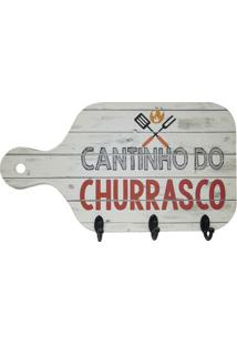 "Porta Chaves Tã¡Bua ""Cantinho Do Churrasco""- Off White & Kapos"