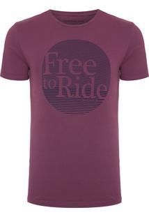 Camiseta Masculina Estampa Free Ride - Vermelho