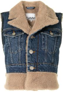 Ganni Sleeveless Denim Jacket - Azul