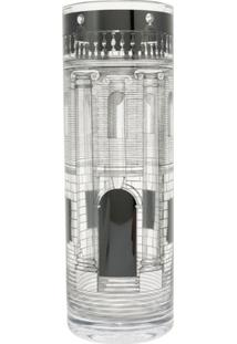 Fornasetti Vaso 'Casa Con Colonne' - Transparent/Black