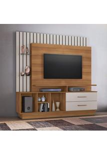 Estante Home Para Tv Até 65 Polegadas Fascinio Candian Jcm Móveis Noronha/Off White