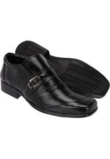 Sapato Social Couro Leoppé Masculino - Masculino-Preto