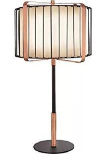 Luminária De Mesa Colmar 6514 Com Cúpula Preto/Cobre Mart
