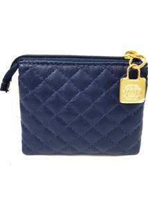 Necessaire Ld Luciana David Mini Essencial Azul Marinho