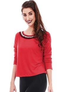 Blusa Gola Jogabe Fashion Feminina - Feminino-Vermelho