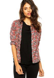 Camisa Forum Fashion Preto/ Vermelho