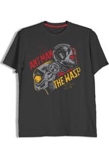 Camiseta Homem Formiga E A Vespa Not Actual Size - Unissex-Preto