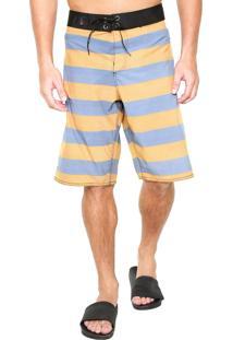 Bermuda Água Polo Wear Listras Amarela