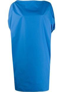Nº21 Vestido Reto Com Ajuste Na Cintura - Azul