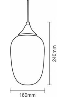 Pendente Rigato Para 1 Lâmpada Marrakesh Taschibra Transparente