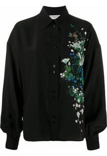 Givenchy Blusa Com Detalhe Floral - Preto