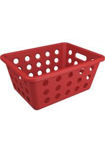 Cesta Organizadora One Pequena 18,6X14,2Cm Vermelho Bold