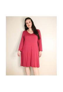 Vestido Liso Com Ajuste Nas Costas Curve & Plus Size | Ashua Curve E Plus Size | Rosa | Gg