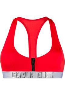 Calvin Klein Bralette Bikini Top - Vermelho