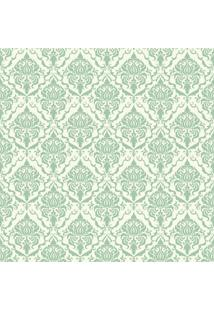 Papel De Parde Sunset Adesivos Arabesco Verde E Branco - Rolo 6,00 0,50 M