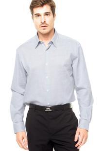 Camisa Perry Ellis Padrão Cinza