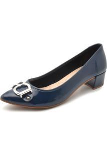 fd8d3c472f Scarpin Azul Marinho Moleca feminino