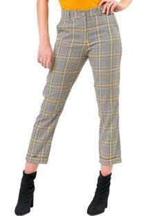 Calça Mx Fashion Xadrez Jordane Amarela