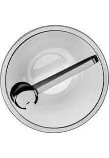 Saladeira Milan Jateada Com Pegador Revestido Em Prata Riva