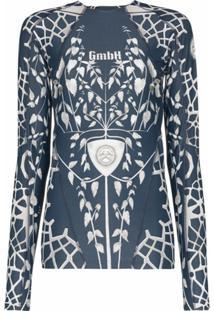 Gmbh Blusa Com Estampa Gráfica - Azul