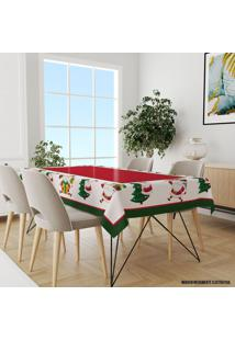 Toalha De Mesa Retangular Para 6 Lugares Papai Noel Fofinho 1.45M X 2.20M ÚNico - Multicolorido - Dafiti