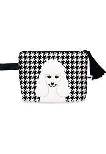 Clutch Nita Faco Poodle Preto E Branco