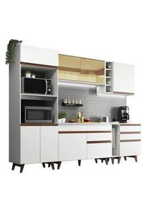 Cozinha Completa Madesa Reims 270001 Com Armário E Balcão Branco Cor:Branco