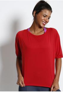 Blusa Lisa Com Recortes- Vermelha- Physical Fitnessphysical Fitness
