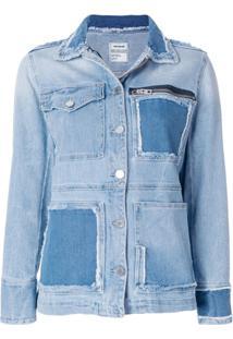 Zadig&Voltaire Jaqueta Jeans 'Kick Destroy' - Azul