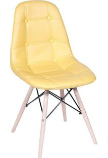 Cadeira Eames Botonãª- Amarela & Bege Claro- 83X44X39Or Design