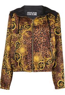 Versace Jeans Couture Jaqueta Com Estampa Barroca - Marrom
