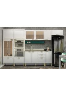 Cozinha Completa 9 Peã§As Americana Multimã³Veis 5653Mf Branco/Verde - Branco/Incolor - Dafiti