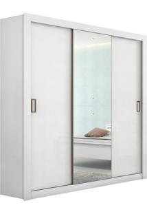Guarda-Roupa Casal Com Espelho Apoena I 3 Pt Branco