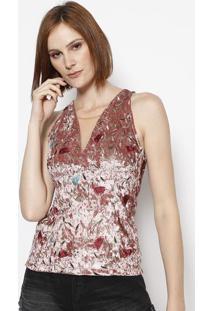 68dfc40372 ... Blusa Aveludada Floral - Rosê   Verde Claro - Colccicolcci