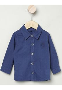 Camisa Maquinetada- Azul Marinho- Bakulelêbakulelê