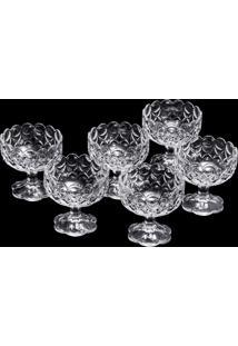 Conjunto 6 Taças De Cristal 10,5X10,5Cm – Linha Angélica
