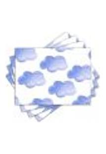 Jogo Americano - Nuvens Com 4 Peças - 1125Jo