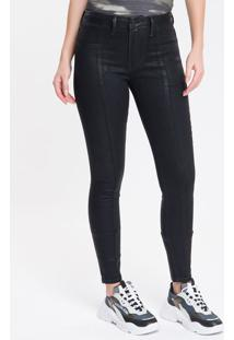 Calça Jeans Five Pockets Super Skinny - Preto - 34