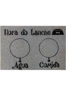 Capacho Hora Do Lanche 40X60Cm Pvc Cinza Pet Kapazi