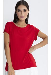 Blusa Básica Viscolycra Vermelho