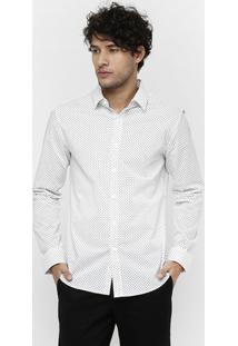 Camisa Broken Rules Mini Print Stars - Masculino-Off White